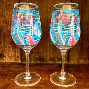 Set of 2 Lilly Pulitzer Get Nauti Acrylic Glasses